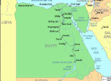 Giza - Map of egypt old kingdom